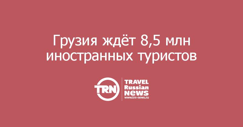 Грузия ждёт 8,5 млн иностранных туристов