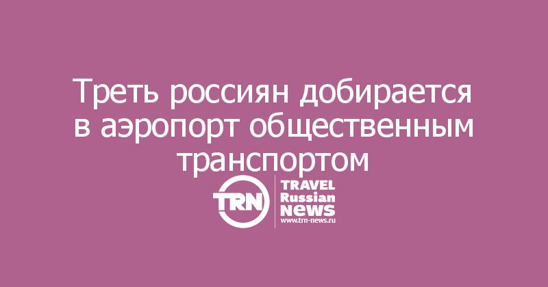 Треть россиян добирается в аэропорт общественным транспортом