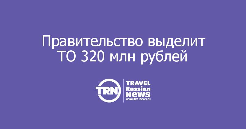 Правительство выделит ТО 320 млн рублей