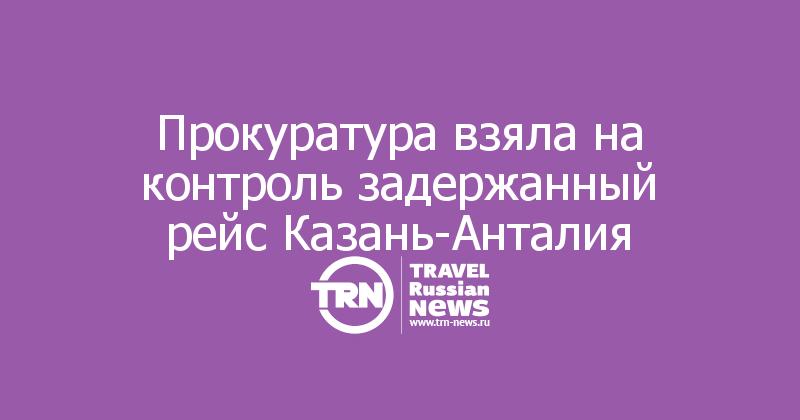 Прокуратура взяла на контроль задержанный рейс Казань-Анталия