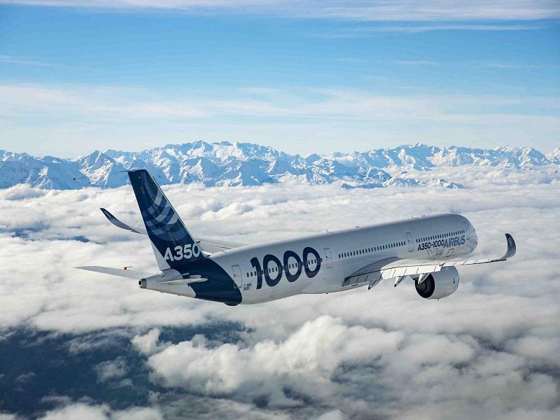 Новый Airbus А350-1000 совершил свой первый взлет полностью наавтомате
