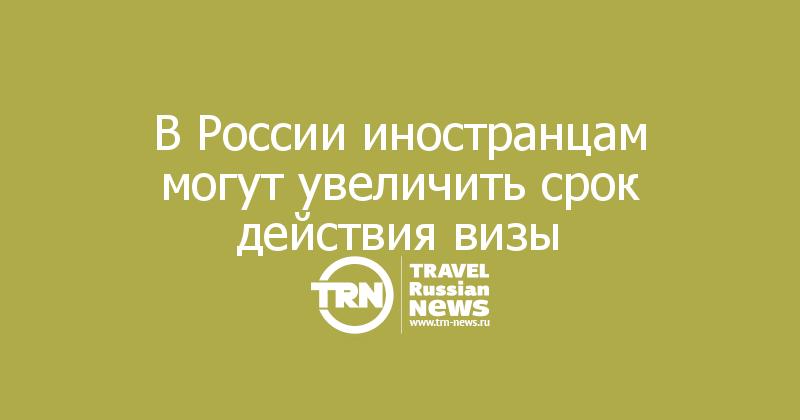 В России иностранцам могут увеличить срок действия визы