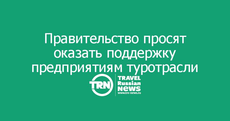 Правительство просят оказать поддержку предприятиям туротрасли