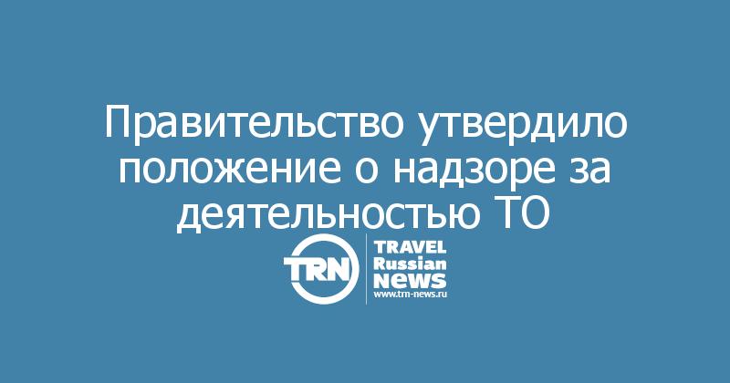 Правительство утвердило положение о надзоре за деятельностью ТО