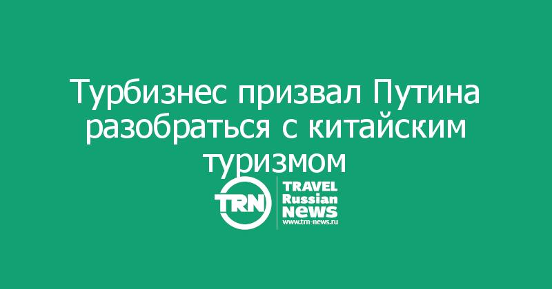 Турбизнес призвал Путина разобраться с китайским туризмом