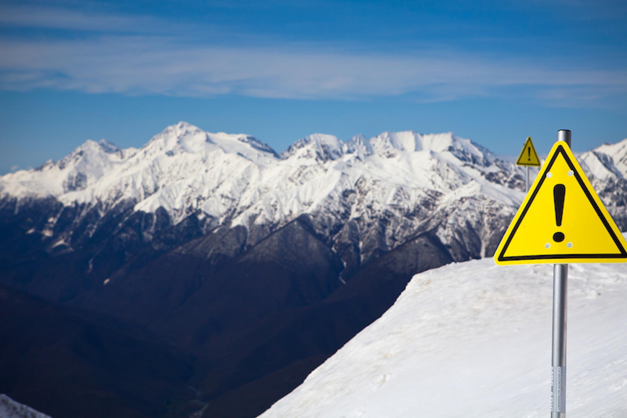 Из-за снегопада в Сочи объявили экстренное предупреждение