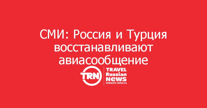 СМИ: Россия и Турция восстанавливают авиасообщение