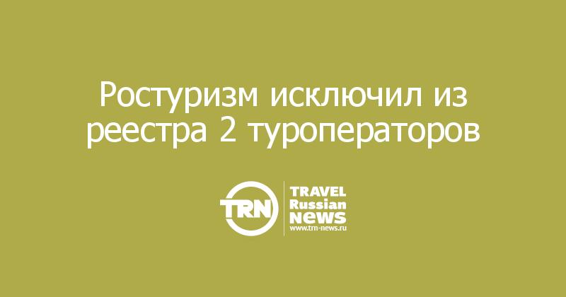 Ростуризм исключил из реестра 2 туроператоров