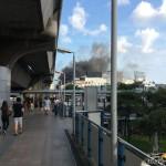 Пожар в торговом центре Бангкока.
